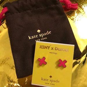 Kate Spade pink X earrings